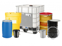 Group of Drums Pails and Totes