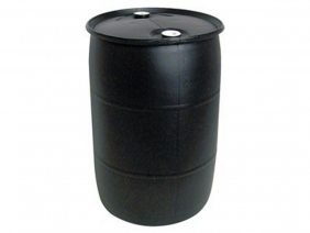 55 Gallon Tight Head Drum Black Color