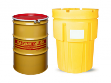 Group of Poly & Steel Salvage/Overpack Drums