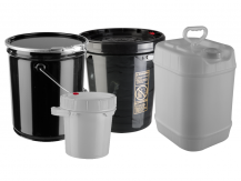Group of Poly and Steel Pails